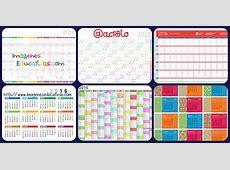 Colección de calendarios y planificadores 2016 Gran