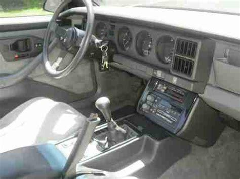 vehicle repair manual 1987 pontiac firebird interior lighting buy used 1987 pontiac firebird formula 9034 miles t tops 5 speed manual all original pnt in