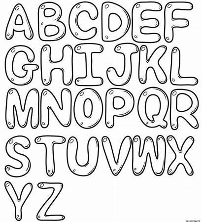 Letters Alphabet Coloriage Bubble Az Dessin Imprimer