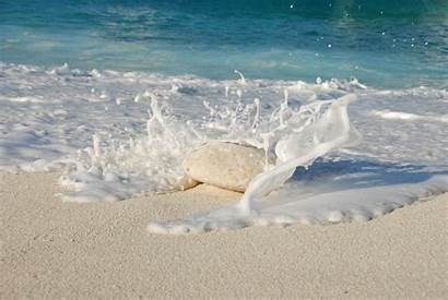 Sand Beach Waves Ocean Stone Hit Summer