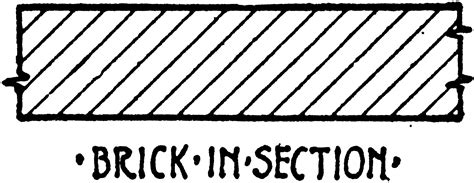 brick  section material symbol clipart