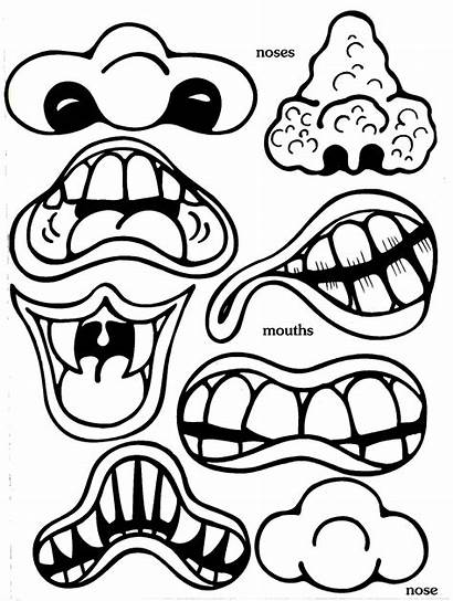 Monster Cut Face Crafts Outs Facial Halloween