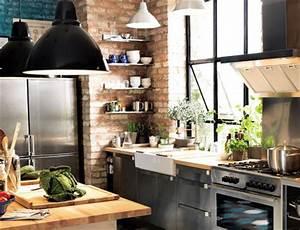 Cuisine Style Industriel Bois : reussir sa d coration avec des luminaires industriels ~ Teatrodelosmanantiales.com Idées de Décoration