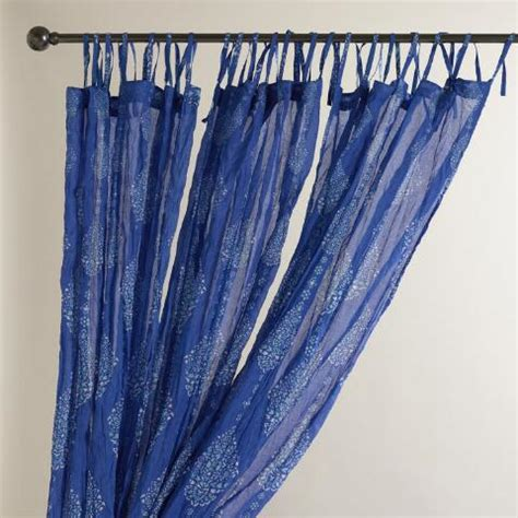 blue mosaic crinkle sheer voile curtains set of 2 world
