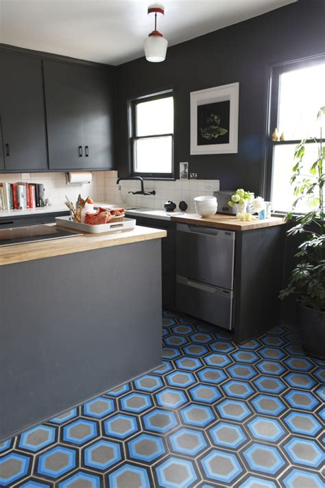 cement kitchen floor contemporary kitchens with cement tiles my paradissi 2047
