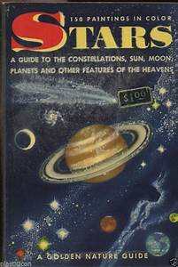 Vintage 1956 Stars Astronomy Planets Moon Sun Nature Guide