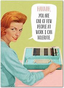 Tolerant Worker.   Personalized birthday cards for your co ...