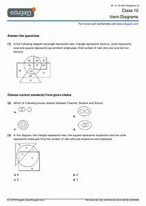 Grade 10 Math Worksheets And Problems  Venn Diagrams