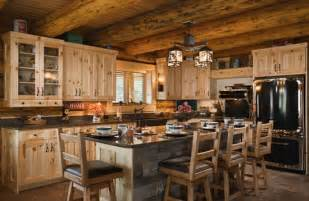 Log Cabin Kitchen Island Ideas by 16 Amazing Log House Kitchens You To See Tin Pig