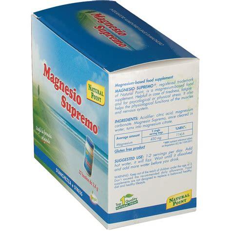 cloruro di magnesio supremo magnesio supremo 174 bustine shop farmacia it