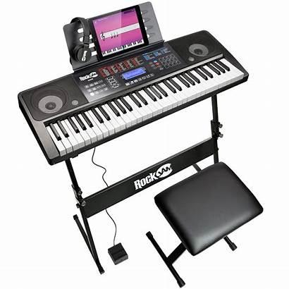Electronic Piano Keyboard Rockjam 61 Key Teaching