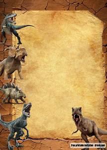 Simple Birthday Invitation Templates Free Jurassic Park Dinosaurs Vintage Invitation Templates