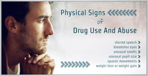 physical signs  drug   abuse