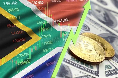 To give you a better understanding of how to buy bitcoin in south africa. South Africa Flag And Cryptocurrency Growing Trend With Two Bitcoins On Dollar Bills Stock ...