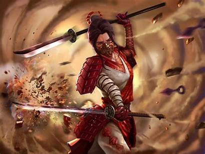 Warrior Fantasy Female Asian Legend Rings Five