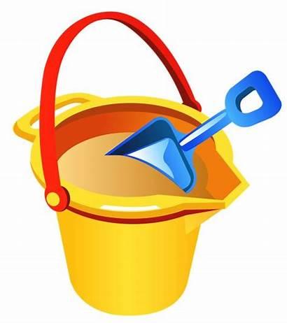Bucket Shovel Beach Clipart Buckets Summer