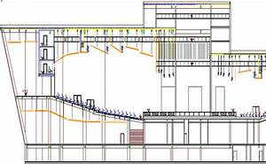 Section And Elevation Of Auditorium Hall Architecture