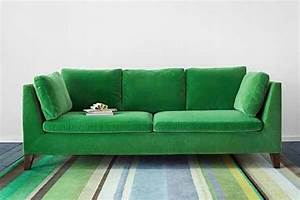 20 beautiful and comfortable velvet sofa designs With bright green sectional sofa