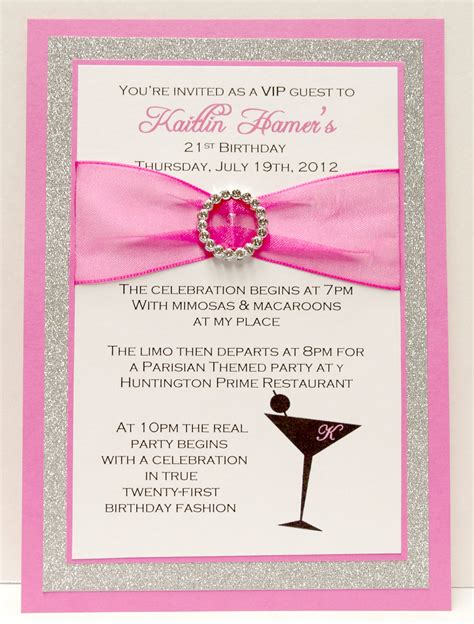 a birthday invitation 21st birthday invitation template best party ideas