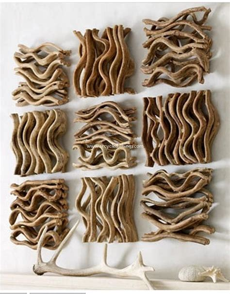 cool things to do with driftwood driftwood wall decoration recycled things