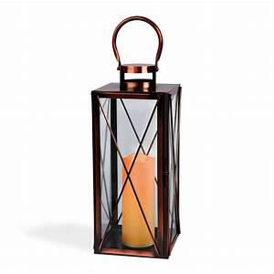 Rectangular, Copper, Candle, Lantern