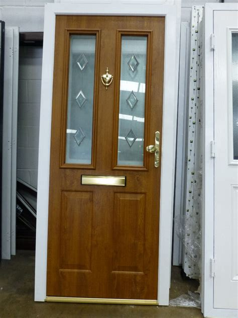 New Front Door And Frame new composite light oak outside white inside upvc front