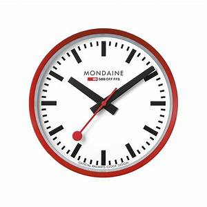 Mondaine wall clockmondaine wall clock replica mondaine for Mondaine wall clock replica