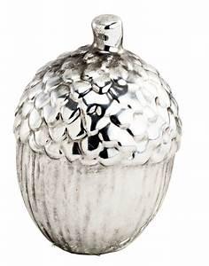 Deko Pilze Aus Keramik : deko eichel aus keramik stehend in silber weihnachtsdeko ebay ~ Bigdaddyawards.com Haus und Dekorationen