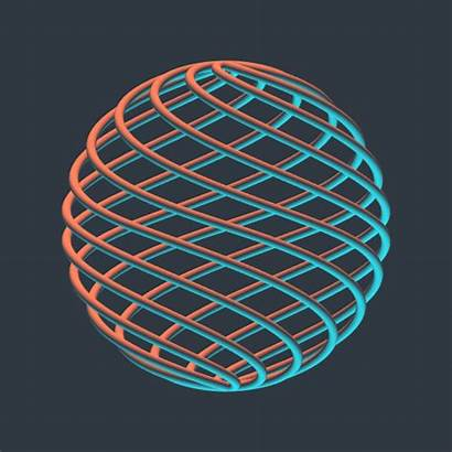 3d Sphere Gifs Abstract Render Geometric Mobius