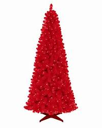 red christmas tree Red Artificial Christmas Tree | Treetopia