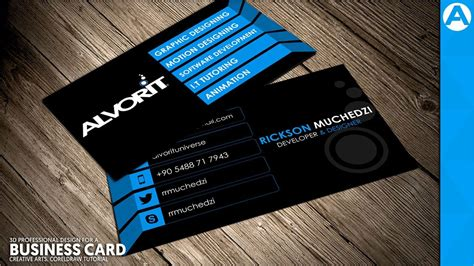 Professional Business Card Design (blue 3d Project) In How Many Business Cards In A Box Vistaprint Blank Rymans Templates Behance Black And Gold Matte Hobby Lobby Pink For Beauty