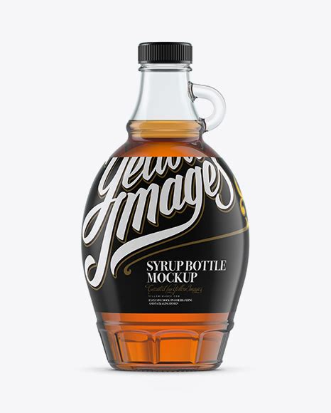 Bottle mockups make the process of presenting and packaging your designs in high quality photorealistic manner possible. Glass Maple Syrup Bottle Mockup in Bottle Mockups on ...