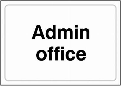 Admin Office Signs Plastic