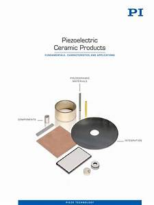 Pi Piezoelectric Ceramic Products Cat125e