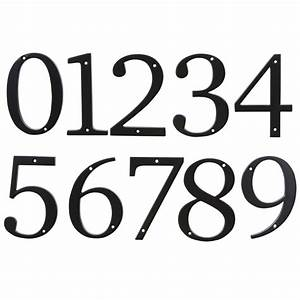 New 4quot satin black house number metal home street address for Black metal house letters