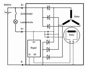 Schaltplan Lichtmaschine Anlasser