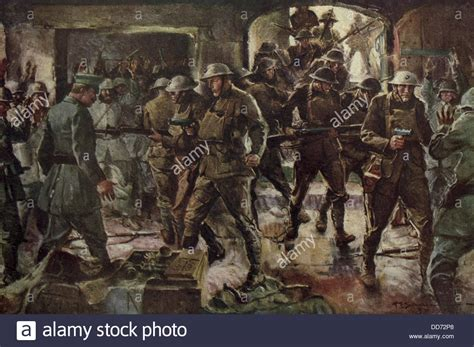 world war  painting depicting british soldiers