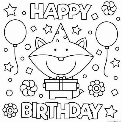 Coloring Birthday Happy Pages Fun Printable