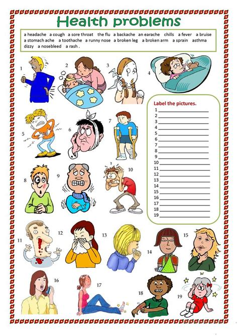 41 Free Esl Health Problems Worksheets