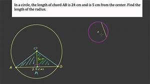 Find The Radius Given A Chord