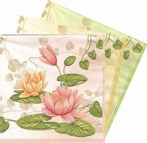 Fleur En Papier Serviette : serviette en papier fleurs n nuphar passioncreationcollection ~ Melissatoandfro.com Idées de Décoration