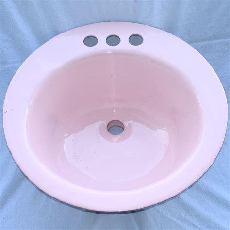pink kitchen sink retro pink cast iron drop in bathroom sink bowl 17x17x8 34 1501