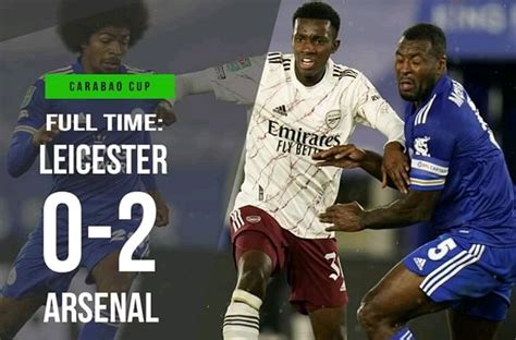 FT: Leicester City 0-2 Arsenal, Edward Nketiah STRIKES ...