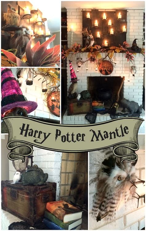 trees  trends unique home decor  harry potter inspired mantle  spooktacular halloween