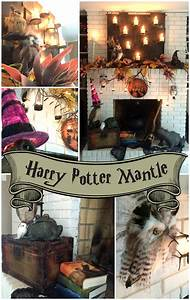 Harry Potter Decoration : a harry potter inspired mantle a spooktacular halloween ~ Dode.kayakingforconservation.com Idées de Décoration
