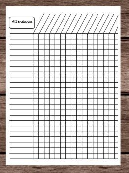attendance tardy late time tracker chart monthly