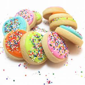 sprinkle birthday cookies - the decorated cookie