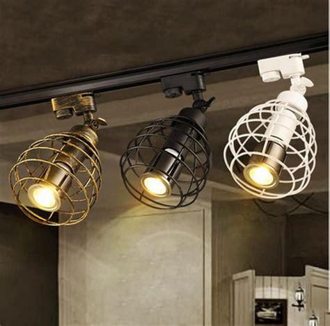 kitchen spot lights black rustic led track light cob 10w ceiling rail lights 3095