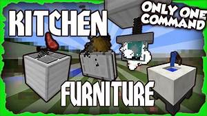 Toaster stove and more kitchen furniture only one for Kitchen furniture minecraft command