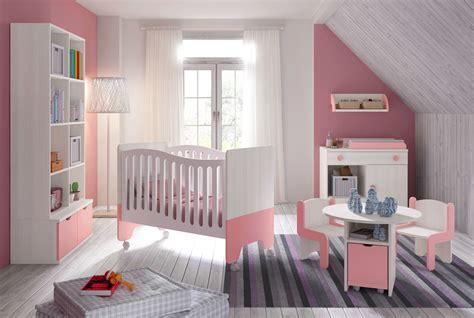 les chambres bebe chambre bébé fille avec lit bicouleur blanc et